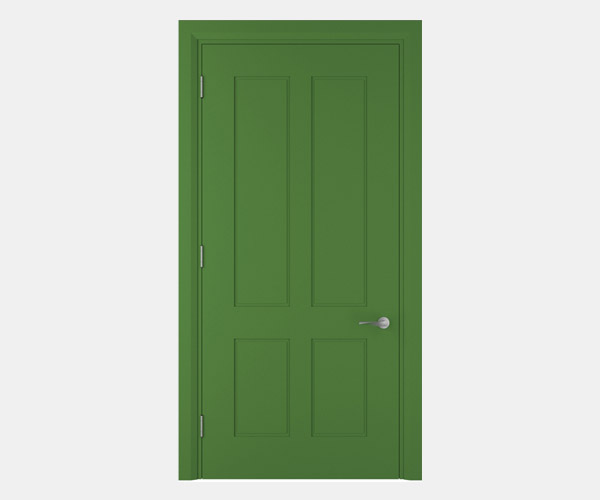 Shadbolt_Darwin_lacquered_panelled_doors_May_Green_RAL_6017