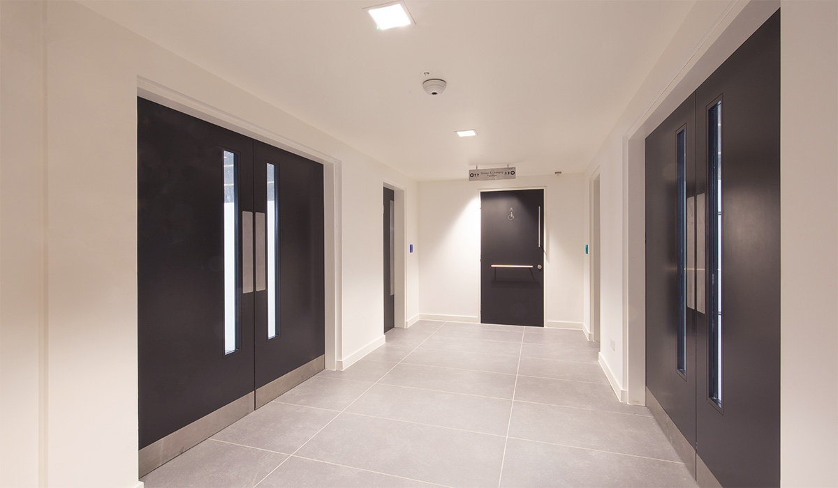 Shadbolt lacquered doors at 20 Old Bailey