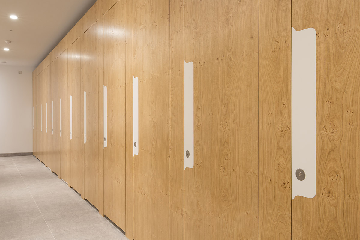 Shadbolt Pippy Oak veneered cubicles installed at One Fen Court