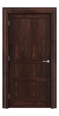 Shadbolt Type11 Timeless Hardwood Door in American black walnut veneer