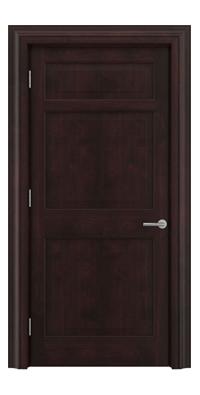 Shadbolt Timeless Type12 hardwood panelled door in American black walnut veneer with dark stain finish