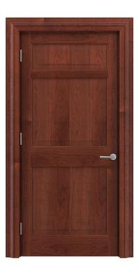 Shadbolt Timeless Type12 hardwood panelled door in American Cherry veneer