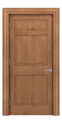 Shadbolt Timeless Type12 hardwood panelled door in European Oak veneer