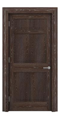Shadbolt Timeless Type12 hardwood panelled door in European Oak veneer with dark stain and lime finish