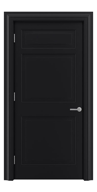 Shadbolt Timeless Type12 hardwood panelled door with RAL 9005 paint finish