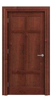 Shadbolt Timeless Type13 hardwood panelled door in American Cherry veneer
