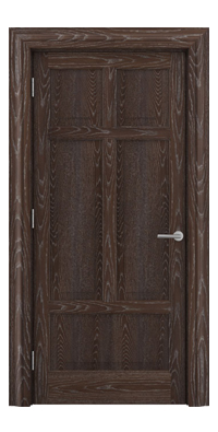 Shadbolt Timeless Type13 hardwood panelled door in European Oak veneer with dark stain and lime finish