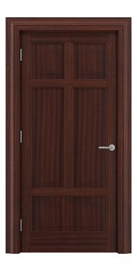 Shadbolt Timeless Type13 hardwood panelled door in Sapele Mahogany veneer