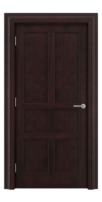 Shadbolt Timeless Type15 hardwood panelled door in American black walnut veneer in dark stain finish