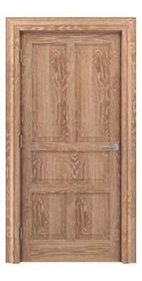Shadbolt Timeless Type15 hardwood panelled door in European Oak veneer with lime finish