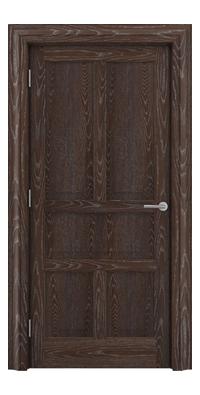 Shadbolt Timeless Type15 hardwood panelled door in European Oak veneer with dark stain and lime finish