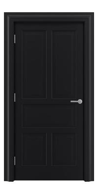 Shadbolt Timeless Type15 hardwood panelled door in RAL 9005 paint finish