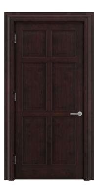 Shadbolt Timeless Type16 hardwood panelled door in American black walnut veneer with dark stain finish