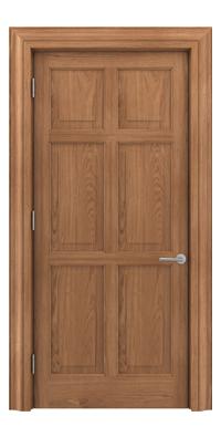 Shadbolt Timeless Type16 hardwood panelled door in European oak veneer