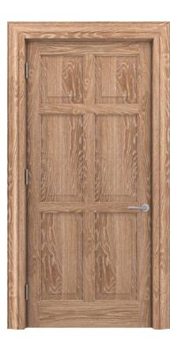 Shadbolt Timeless Type16 hardwood panelled door in European oak veneer with lime finish