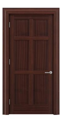 Shadbolt Timeless Type16 hardwood panelled door in Sapele Mahogany veneer