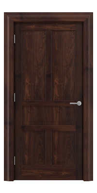 Shadbolt Timeless Type17 hardwood panelled door in American black walnut veneer