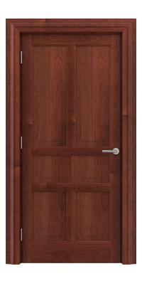 Shadbolt Timeless Type17 hardwood panelled door in American Cherry veneer