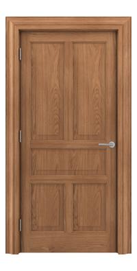 Shadbolt Timeless Type17 hardwood panelled door in European oak veneer