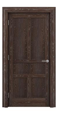 Shadbolt Timeless Type17 hardwood panelled door in European oak veneer in dark stain and lime finish