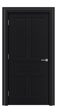 Shadbolt Timeless Type17 hardwood panelled door in RAL 9005 paint finish