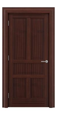 Shadbolt Timeless Type17 hardwood panelled door in Sapele Mahogany veneer