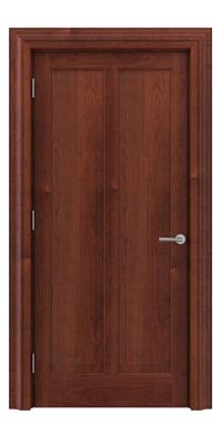 Shadbolt Timeless Type18 hardwood panelled door in American Cherry veneer