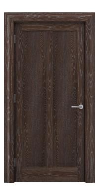 Shadbolt Timeless Type18 hardwood panelled door in European Oak veneer with dark stain and lime finish