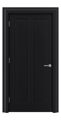 Shadbolt Timeless Type18 hardwood panelled door with RAL 9005 paint finish