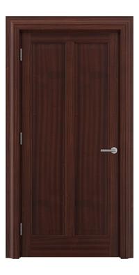 Shadbolt Timeless Type18 hardwood panelled door in Sapele Mahogany veneer