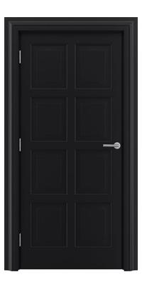 Shadbolt_Type8_Timeless_Hardwood_Door_in_RAL9005_paint_finish