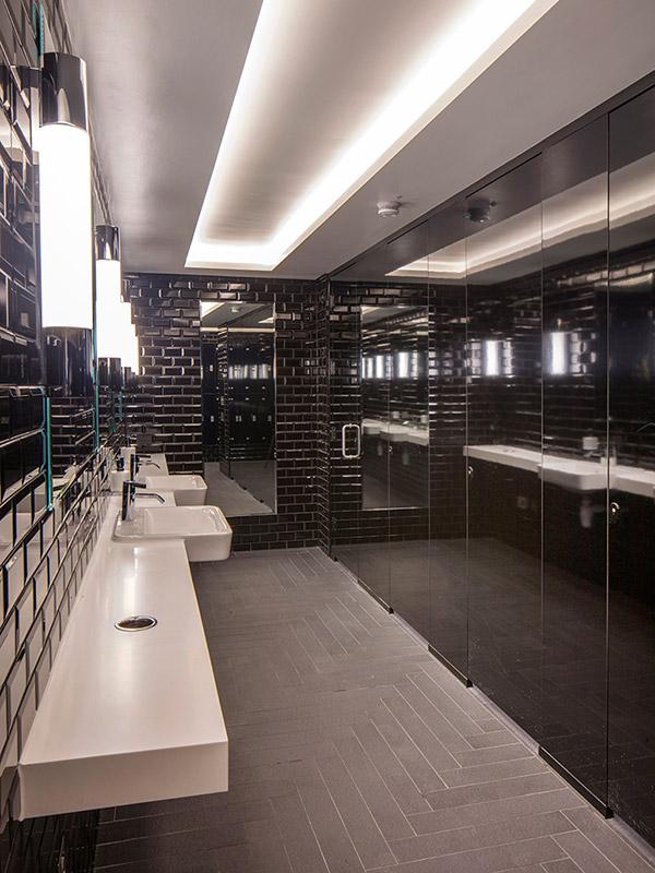 Shadbolt high-gloss cubicles doors at No1 New Oxford Street