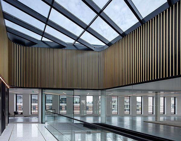 Top lift lobby at No1 New Oxford Street