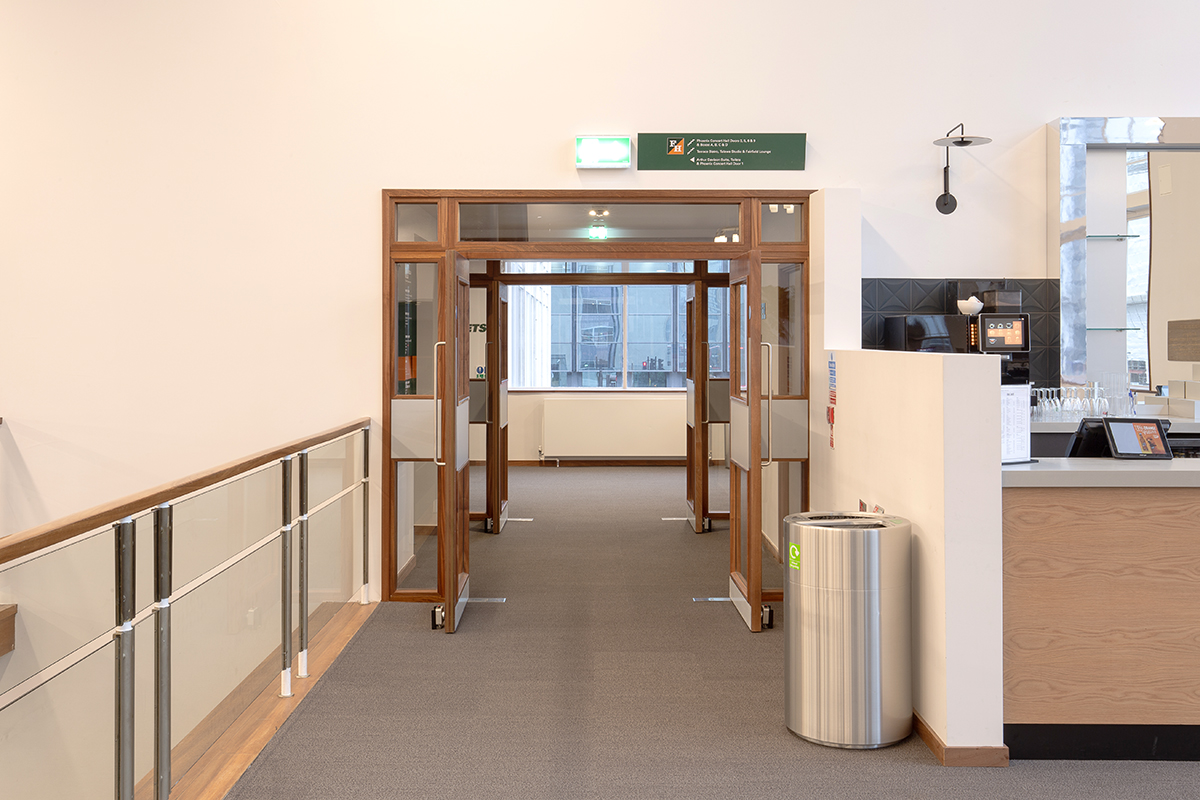 Shadbolt_Fairfield_Halls_Veneered_glazed_fire_doors